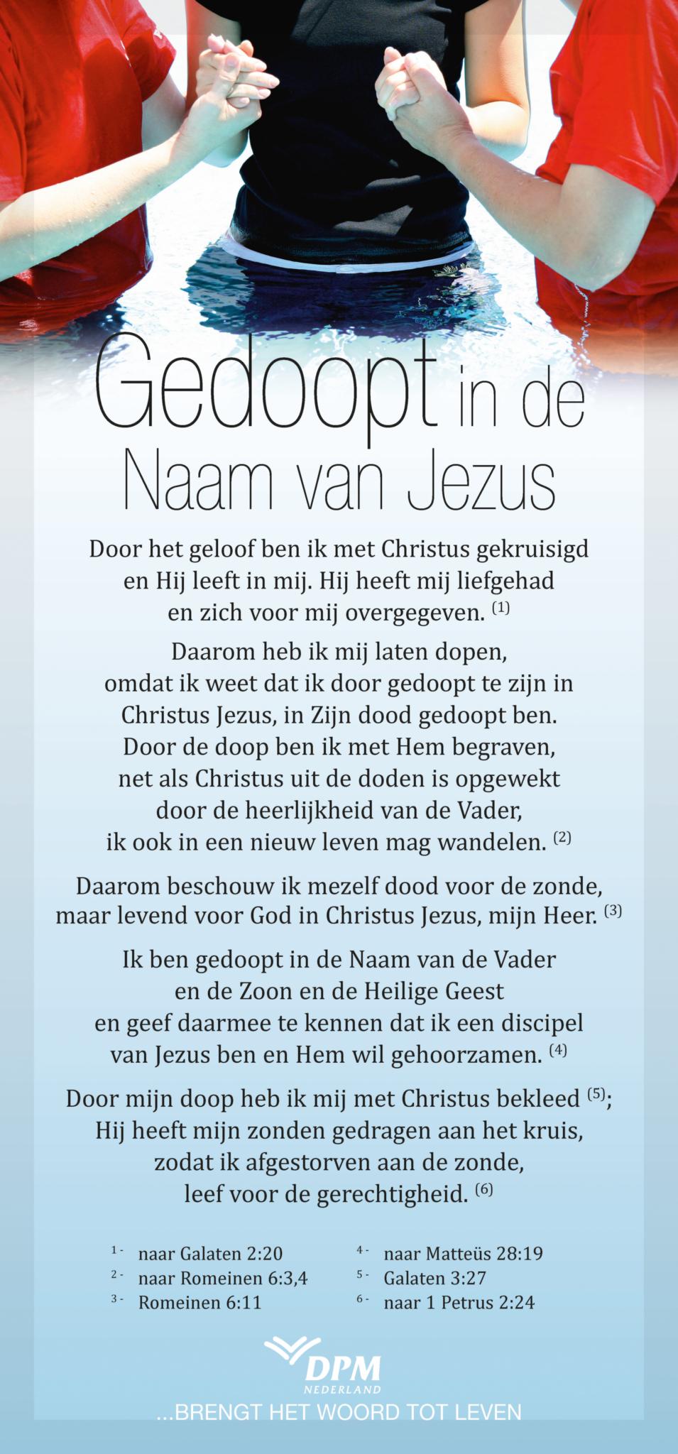 Gedoopt in de naam van Jezus
