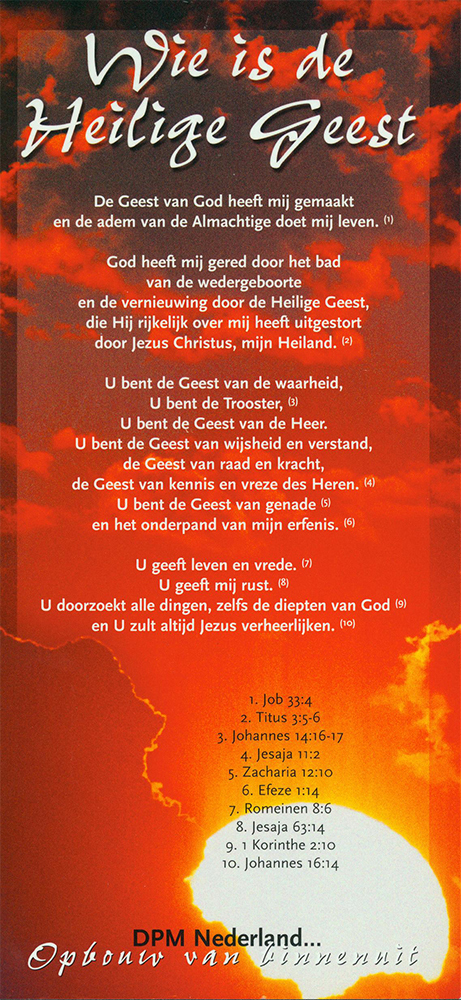 Wie is de Heilige Geest - kaart