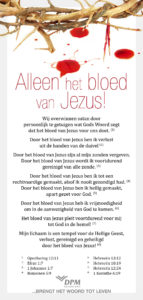 Alleen het bloed van Jezus