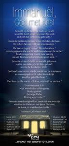 Immanuël, God met ons