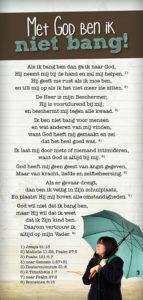 Met God ben ik niet bang