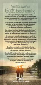 Vertrouwen in Gods bescherming